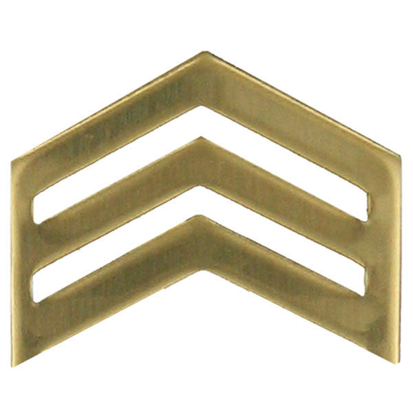 Army ROTC Chevron: Sergeant - brass