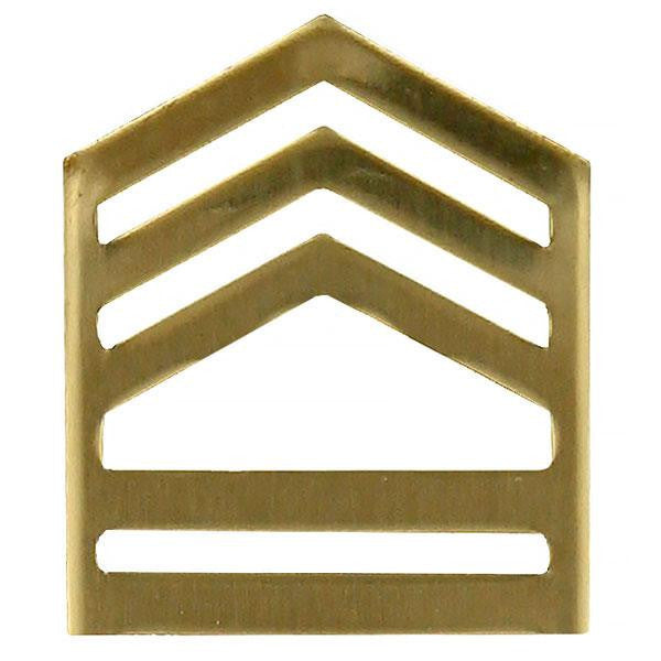 Army ROTC Chevron: Sergeant First Class - brass