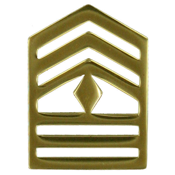 Army ROTC Chevron: First Sergeant - brass