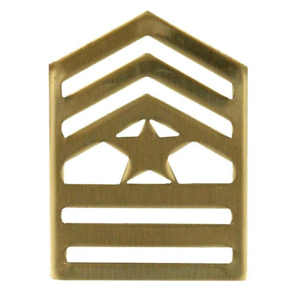 Army ROTC Chevron: Sergeant Major - brass