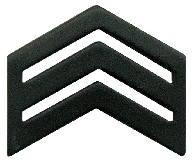Army ROTC Chevron: Sergeant Senior Division - black metal