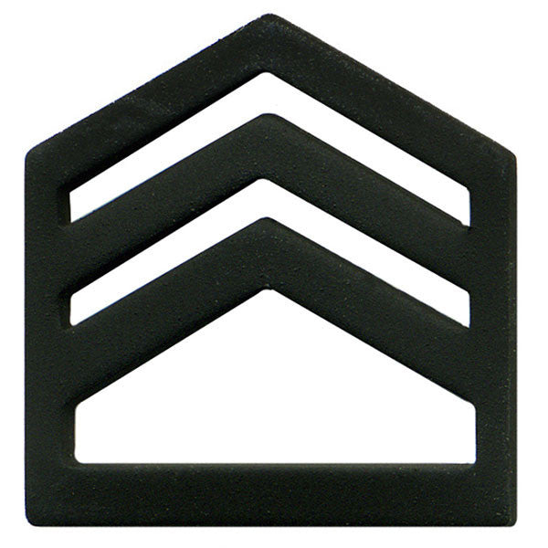 Army ROTC Chevron: Staff Sergeant Senior Division - black metal