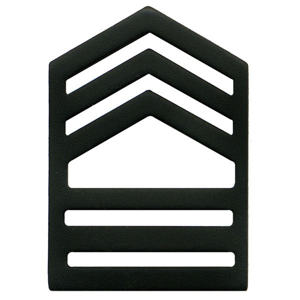 Army ROTC Chevron: Master Sergeant Senior Division - black metal