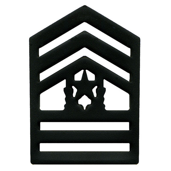 Army ROTC Chevron: Command Sergeant Major Senior Division - black metal