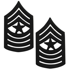 Marine Corps Chevron: Sergeant Major - black metal, solid brass