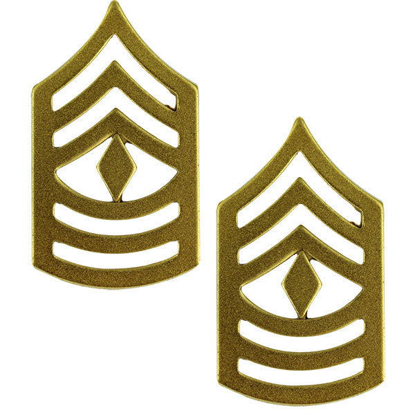 Marine Corps Chevron: First Sergeant - satin gold