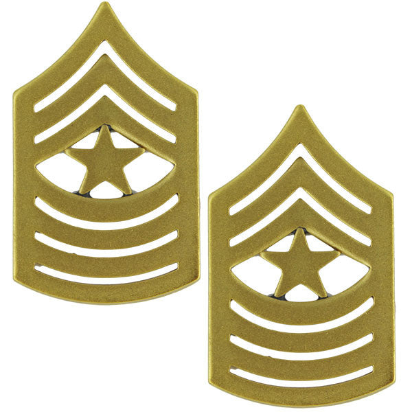 Marine Corps Chevron: Sergeant Major - satin gold