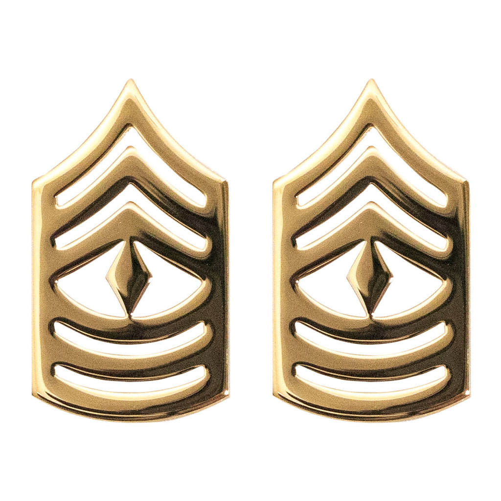 Marine Corps Chevron: First Sergeant - 22K Gold Plated Anodized