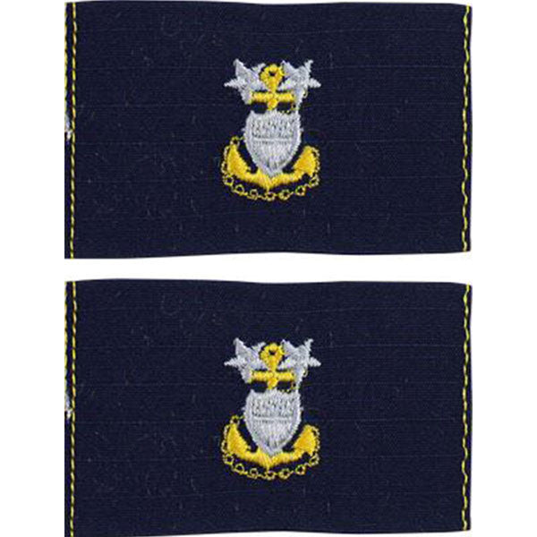 Coast Guard Embroidered Collar Device: E9 CPO: Master - Ripstop fabric