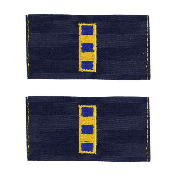 Coast Guard Embroidered Collar Device: Warrant Officer 2 - Ripstop fabric