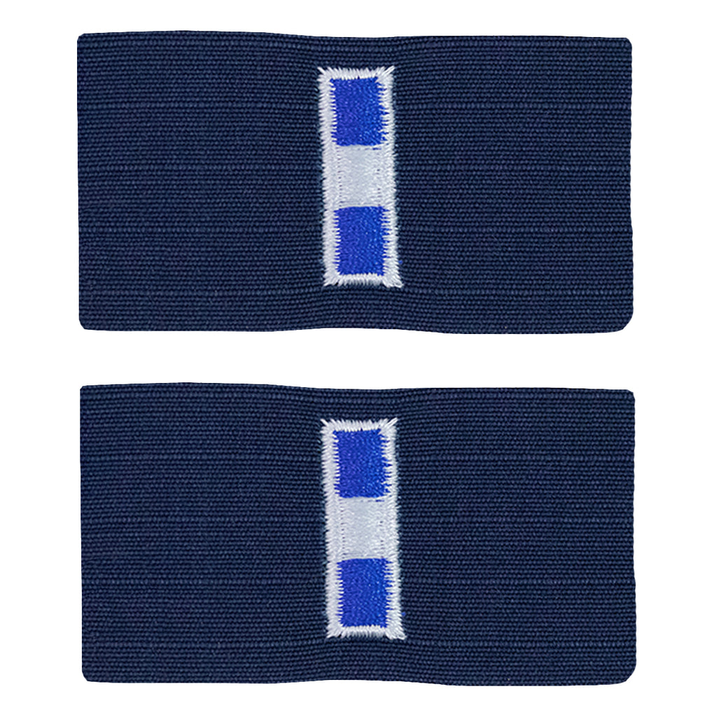 Coast Guard Embroidered Collar Device: Warrant Officer 3 - Ripstop fabric