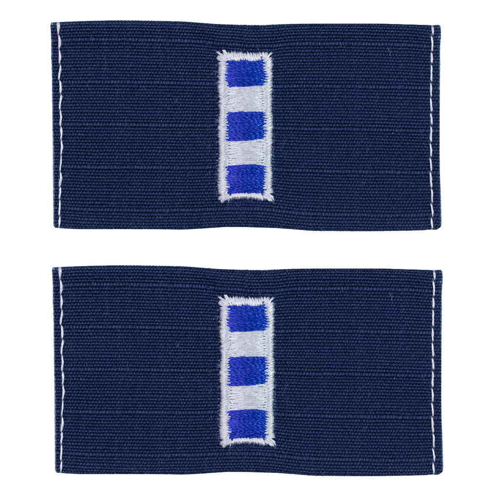 Coast Guard Embroidered Collar Device: Warrant Officer 4 - Ripstop fabric