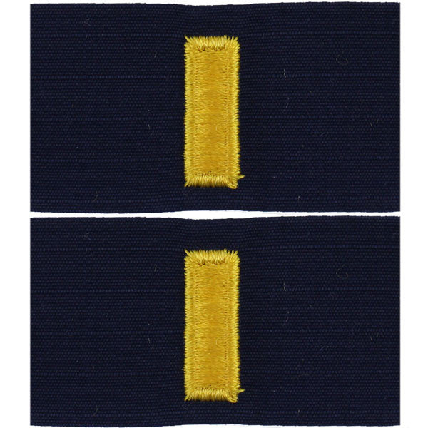 Coast Guard Embroidered Collar Device: Ensign - Ripstop fabric