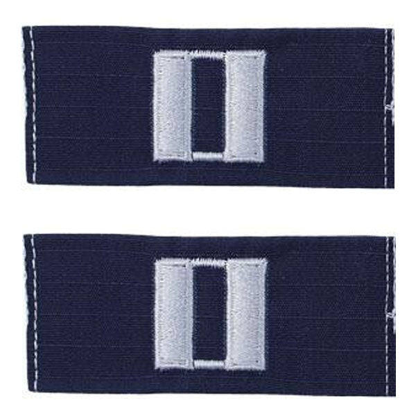 Coast Guard Embroidered Collar Device: Senior Lieutenant - Ripstop fabric
