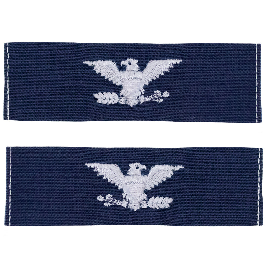 Coast Guard Embroidered Collar Device: Captain - Ripstop fabric