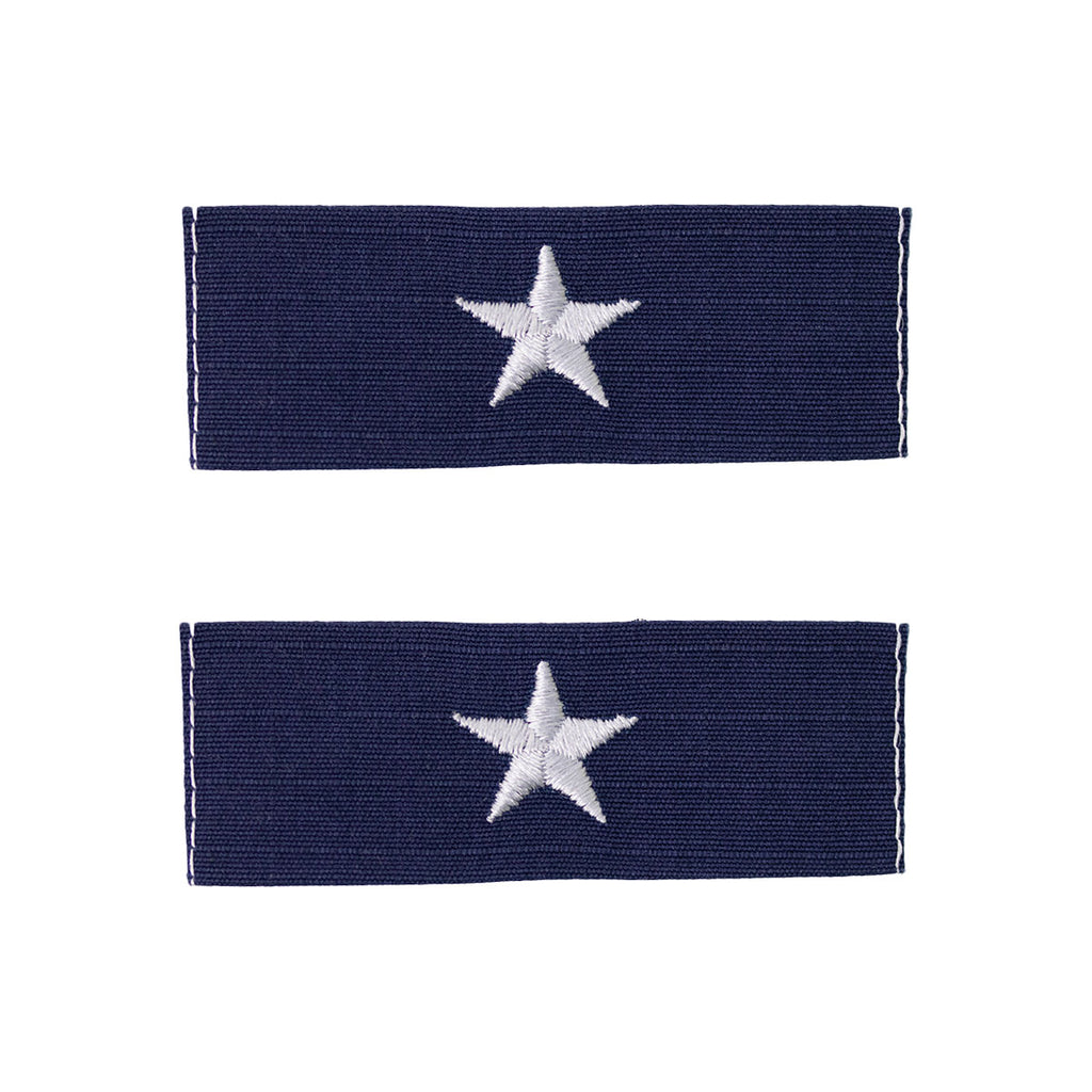 Coast Guard Embroidered Collar Device: Rear Admiral Lower - Ripstop fabric