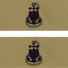 Coast Guard Embroidered Collar Device: E7 CPO - desert (NON-RETURNABLE)