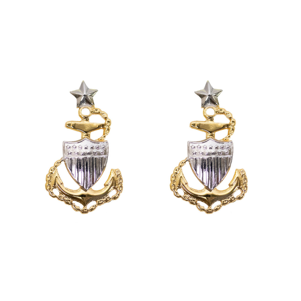 Coast Guard Metal Collar Device: E8 Chief Petty Officer: Senior