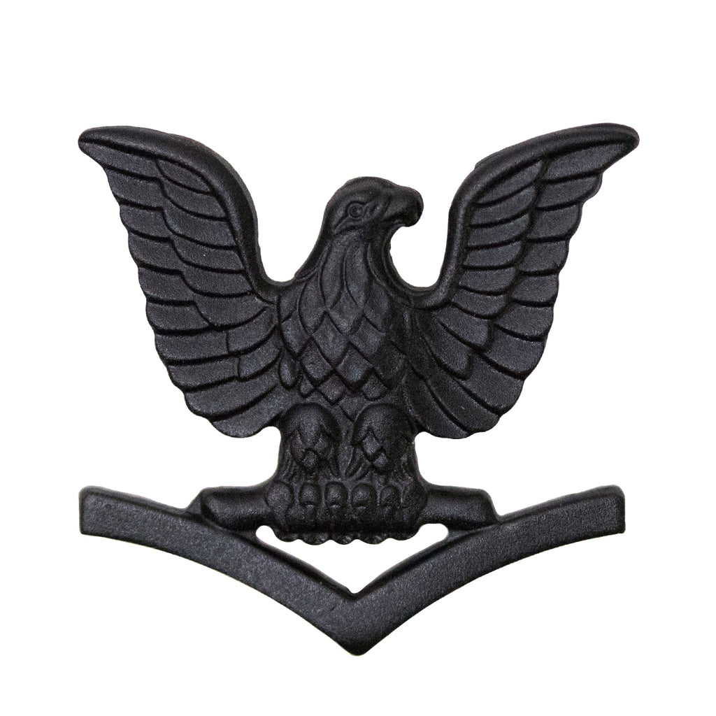 Marine Corps Collar Device: E4 Petty Officer - black metal