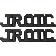 Army Junior ROTC Collar Device - JROTC Cut Out Letters - black metal