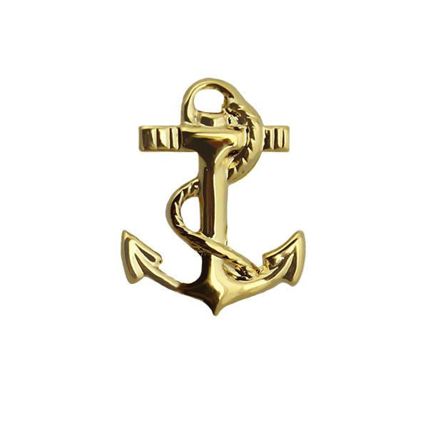 Military Sealift Command Collar Device: Gold Anchor
