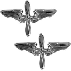Air Force Academy Collar Device: Silver Wings and Silver Propeller