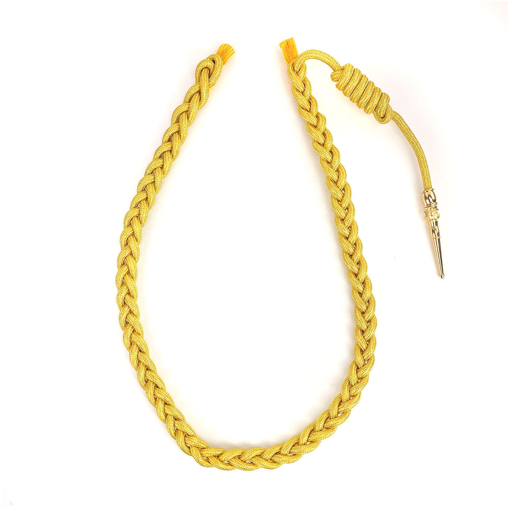 Army Service Aiguillette: Synthetic Gold