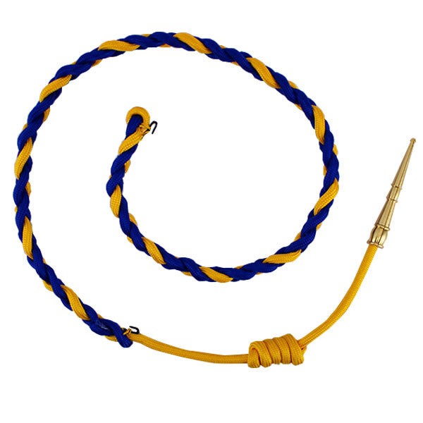 California Highway Patrol Aiguillette: Royal Blue/Gold with Brass tip
