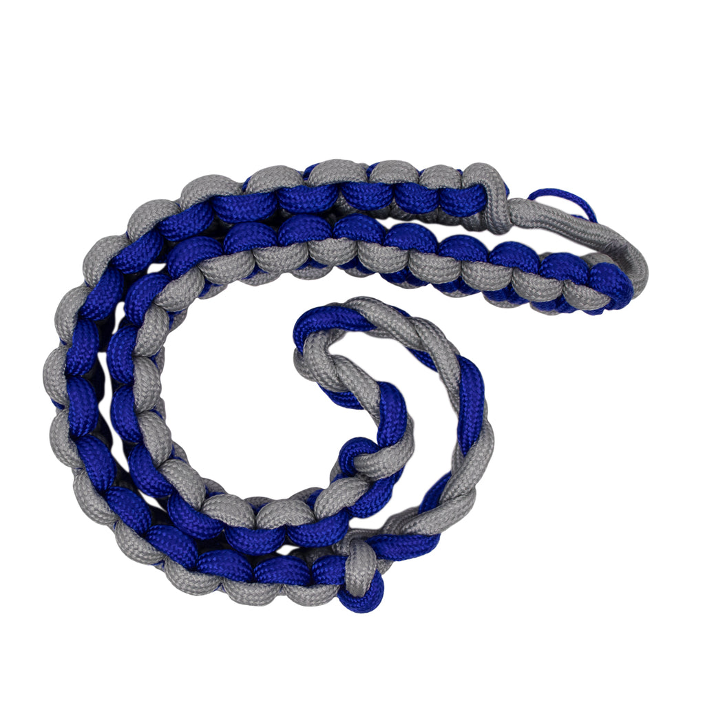 Shoulder Cord: 2723 Interwoven Gray and Royal Blue