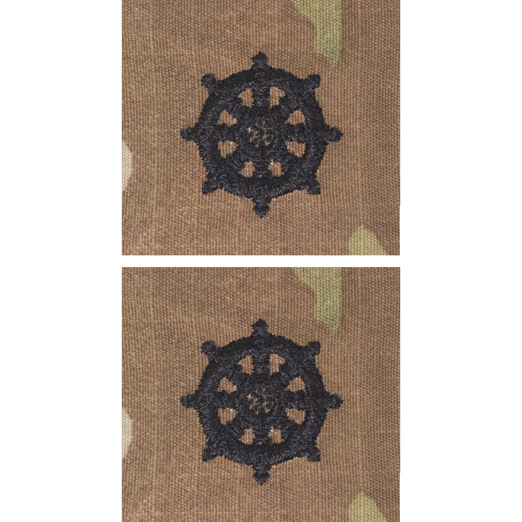 Army Officer Branch Insignia: Buddhist Chaplain - embroidered on OCP with hook