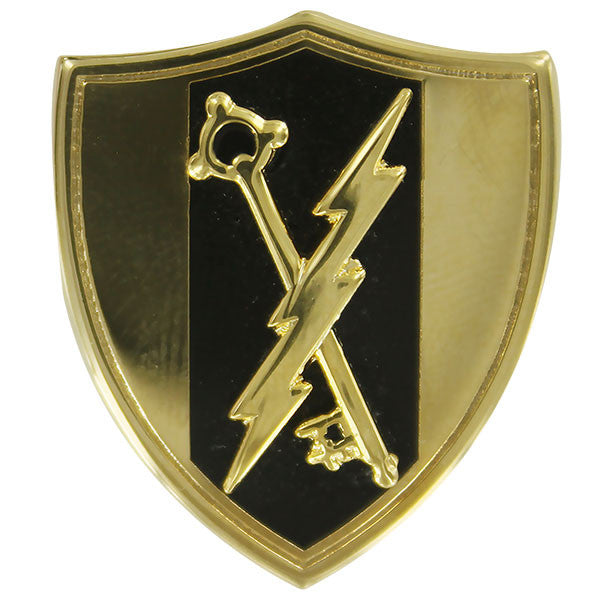 Army Officer Branch of Service Collar Device: Electronic Warfare - 22k gold plated