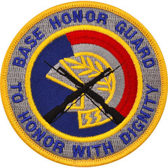 Air Force Patch: Base Honor Guard to Honor with Dignity - color
