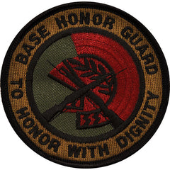 Air Force Patch: Base Honor Guard - subdued (NON-REFUNDABLE)