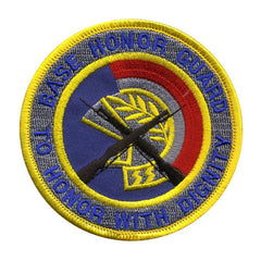 Air Force Patch: Base Honor Guard - color with hook closure