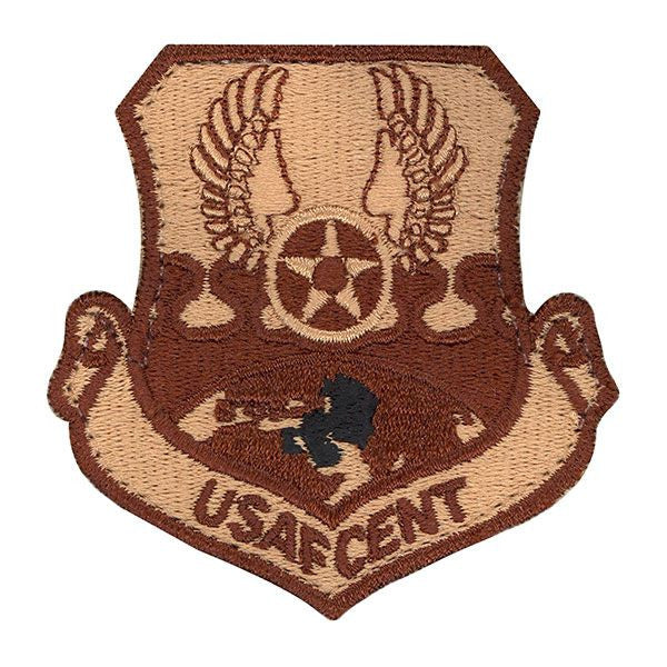 Air Force Patch: Air Force Central: USAFCENT - desert with hook closure (NON-RETURNABLE)