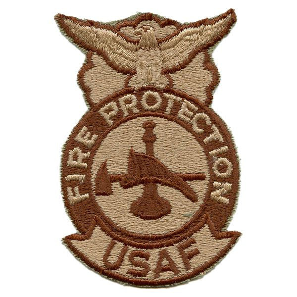 Air Force Patch: Fire Protection: Firefighter - desert (NON-RETURNABLE)