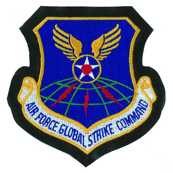 Air Force Patch: Global Strike Command - leather with hook closure