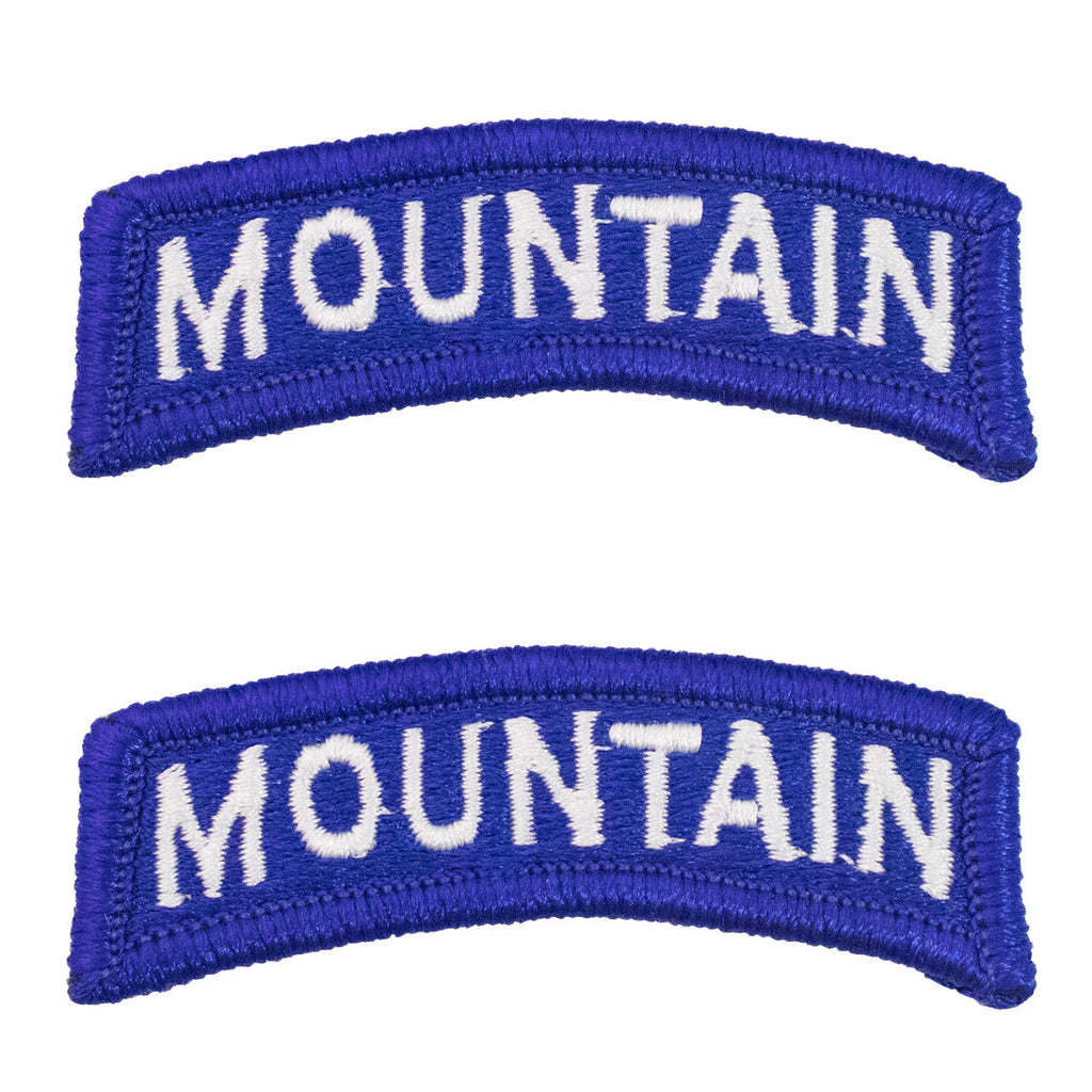 Army Embroidered Tab: Mountain - color
