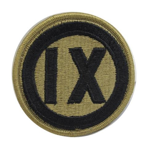 Army Patch: 9th Regional Support - embroidered on OCP