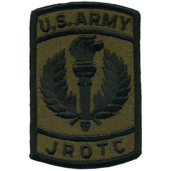 Army Patch: AJROTC - embroidered on subdued (NONREFUNDABLE)