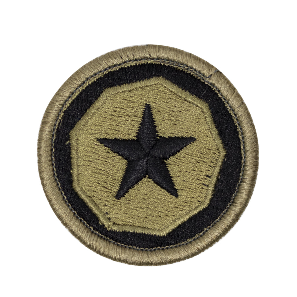 Army Patch: 9th Support Command TAACOM - embroidered on OCP