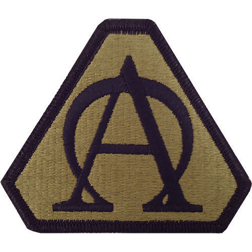 Army Patch: Acquisition Support Center - embroidered on OCP