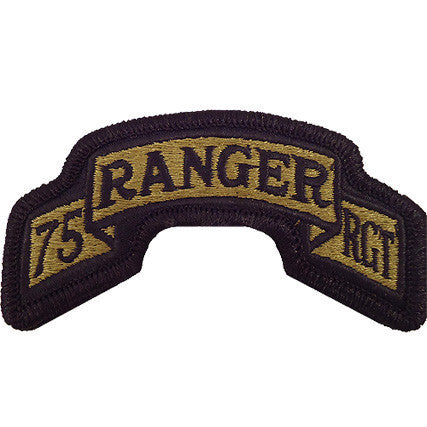 Army Scroll Patch: 75th Ranger Regiment - embroidered on OCP