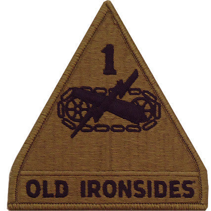 Army Patch: First Armored Division - embroidered on OCP