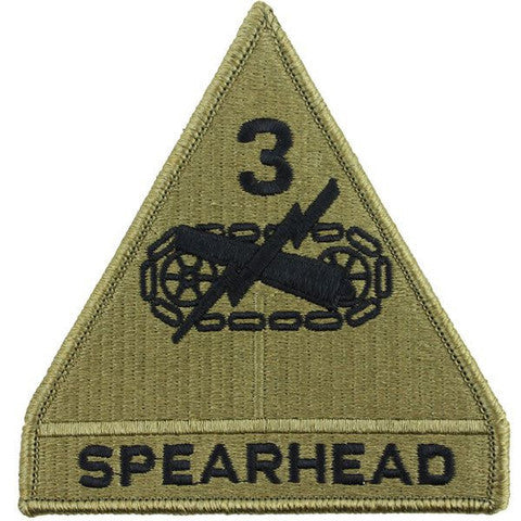 Army Patch: Third Armored Division - embroidered on OCP