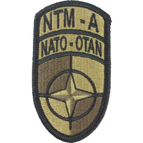 Army Patch: Nato Training Mission Afghanistan - embroidered on OCP