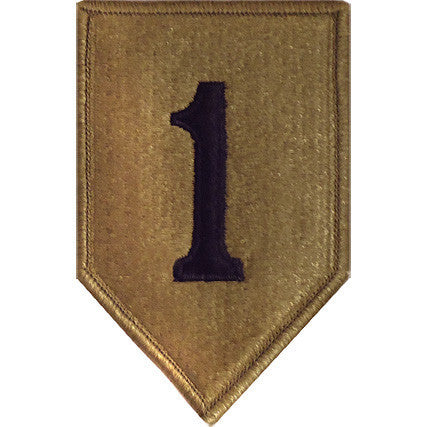 Army Patch: First Infantry Division - embroidered on OCP