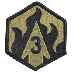 Army Patch: Third Chemical Brigade - embroidered on OCP