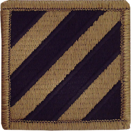 Army Patch: 3rd Third Infantry Division - embroidered on OCP