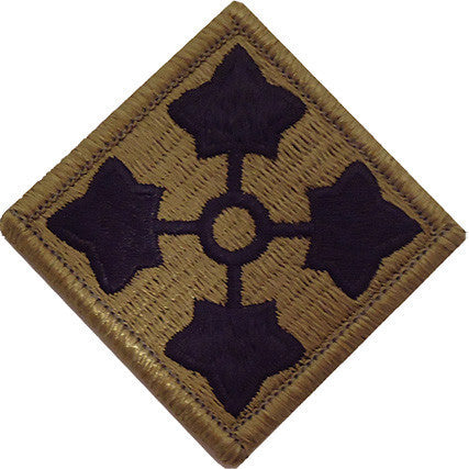 Army Patch: 4th Fourth Infantry Division - embroidered on OCP